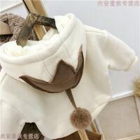 宝宝加绒卫衣婴幼儿韩版童装冬装男女童洋气上衣儿童加厚打底衫潮