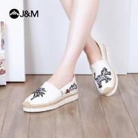 【低价秒杀】jm快乐玛丽个性设计师松糕卡通麻底懒人布鞋女鞋