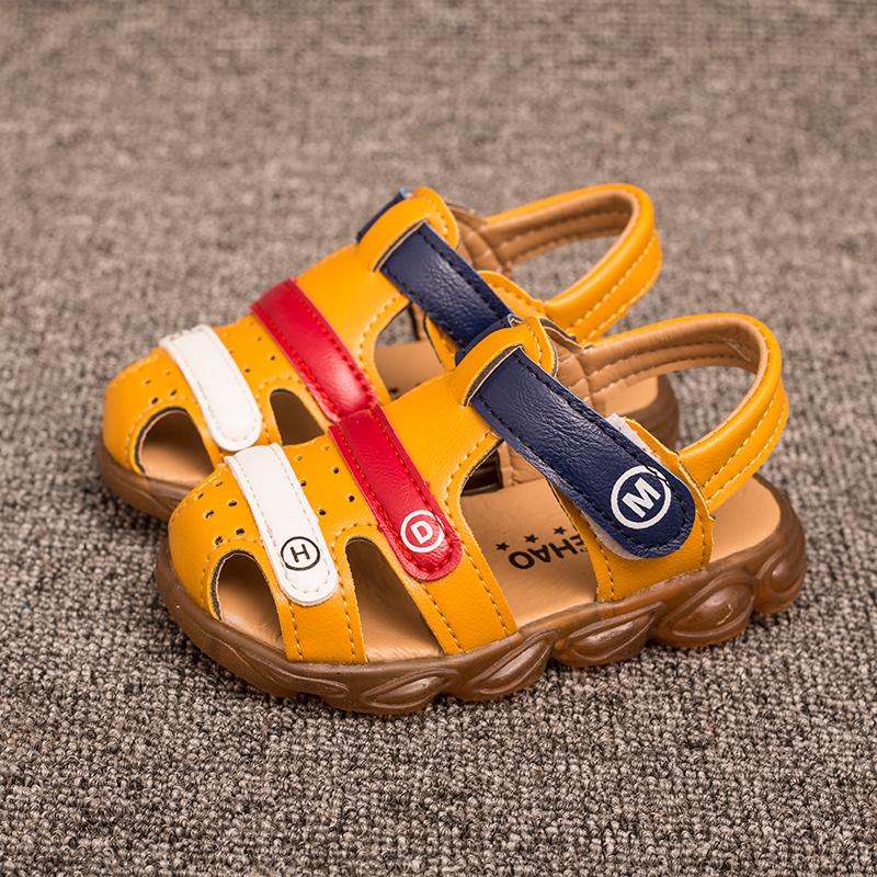 夏款宝宝儿童凉鞋男女宝宝学步凉鞋 鞋儿童沙滩鞋洞洞鞋 包头
