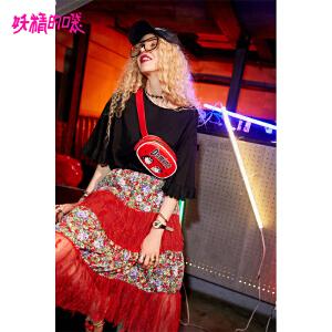 【秒杀价:172】妖精的口袋sukol裙新款学生a字裙原宿风半身裙中长裙女
