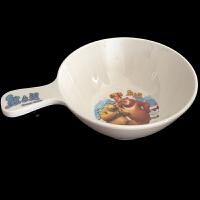 运隆儿童碗单手柄直径10.5cm婴儿辅食碗