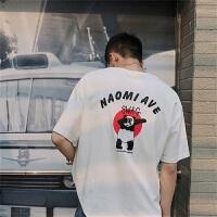 港风夏装印花短袖T恤男女情侣韩版休闲半袖体恤衫潮