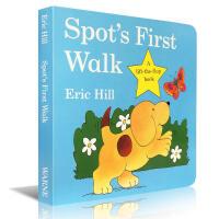 【全店300减100】英文原版启蒙儿童书 Eric Hill小波系列Spot's First Walk卡板书