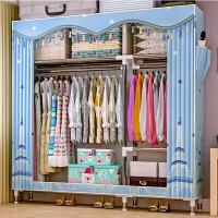 索尔诺简易衣柜钢管加粗加固布衣柜布艺简约现代经济型组装衣橱收纳柜子2563