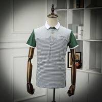柜子剪标 翻领短袖POLO衫男士夏装薄款时尚休闲POLO领半袖体恤衫