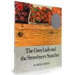 英文原版进口绘本 Grey Lady and Strawberry Snatcher 无字书