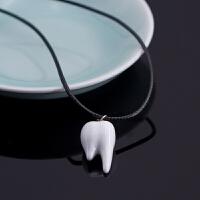 【牙牙】锁骨链饰品 百搭简约配饰短款黑色学生装饰陶瓷项链