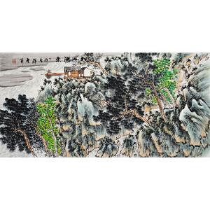 薛彦军《松山渔乐》省美协会员 有作者本人授权 实力派画家 带收藏证书
