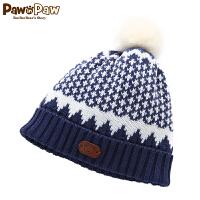 【2件2.5折 到手价:50】Pawinpaw宝英宝卡通小熊童装冬季款男女宝毛线帽PBAC74V81M