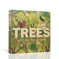 【全店300减100】英文原版进口翻翻书 树木 Trees: A lift-the-flap eco book 低幼启蒙