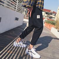韩版潮男宽松小脚裤2018夏季新款百搭休闲裤青少年日系时尚哈伦裤