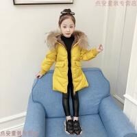 女童中长款棉衣中大童秋冬加厚羽绒2018新款韩版女孩洋气外套