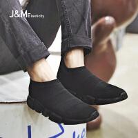 jm快乐玛丽春季新款时尚休闲套脚网面透气运动鞋男鞋子