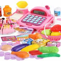 儿童收银机玩具女孩 宝宝3-6岁5过家家小超市收银台套装女童