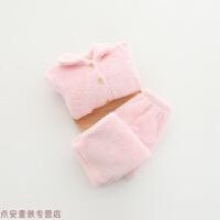 冬季宝宝家居服冬 新款韩版冬装儿童翻领扣子睡衣套装秋冬新款