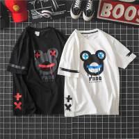 日系男短袖T恤情侣大码嘻哈原宿休闲港风ulzzang个性潮bf