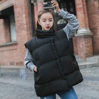 棉衣马甲女士外套秋冬季新款韩版立领短款宽松加厚学生马夹无袖外套潮