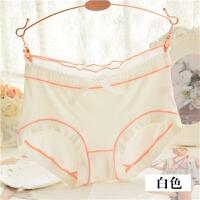 竹纤维女士内裤 莫代尔中腰三角日系少女性感无痕蕾丝比纯棉舒适
