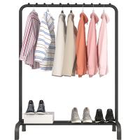 单杆式晾衣架室内折叠落地升降晒衣架卧室简易晾衣杆衣服架