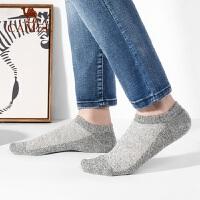 骆驼袜子男士短袜棉质吸汗防臭夏季薄款棉袜低帮浅口潮男袜船袜