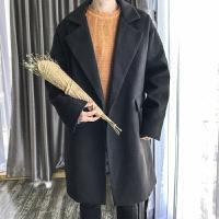 秋冬男士毛呢大衣韩版潮流新款学生帅气修身羊绒中长款风衣外套男