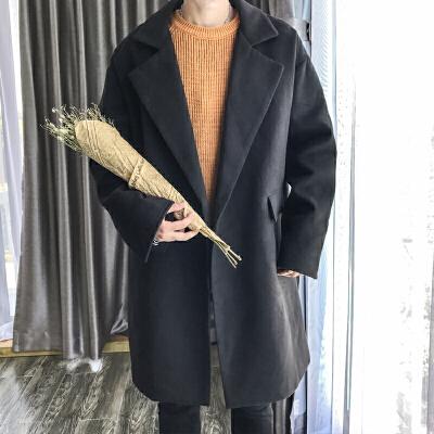 秋冬男士毛呢大衣韩版潮流新款学生帅气修身羊绒中长款风衣外套男 发货周期:一般在付款后2-90天左右发货,具体发货时间请以与客服协商的时间为准