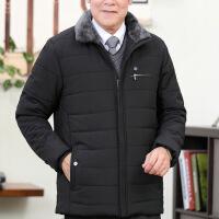 新款冬季加绒加厚中老年棉衣男士老人棉袄爸爸装外套大码羽绒