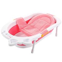 宝宝洗澡盆便携式通用小孩大号厚儿童沐浴盆婴儿可折叠坐躺