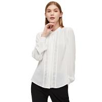 【网易严选 好货直降】女式通勤打褶雪纺衬衫