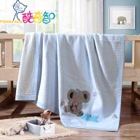富安娜出品 酷奇智母婴床上用品纯棉针织盖毯 全棉亲肤婴儿适用小毯子