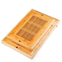 竹茶盘 长方形家用排水嵌入式功夫茶具天然竹制干泡茶台储水