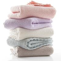 口水巾毛巾婴儿新生儿洗脸宝宝儿童巾吸水小方巾比纯棉纱布柔软