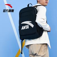 安踏背包 春季新款男女黑色双肩背包学生书包运动旅行包潮电脑包