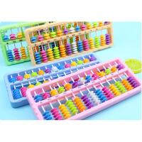珠算算盘幼儿园珠心算算盘数学教具小学一二年级加减法教学计算盘 颜色随机 单个装