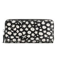 【当当自营】蔻驰(COACH)时尚女士涂层帆布黑底印花钱包卡包手拿包  F57818