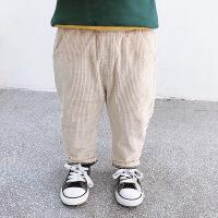 男童休闲裤加绒加厚冬装2018新款儿童韩版纯色灯芯绒裤子宝宝棉裤