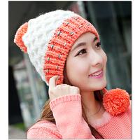 冬季帽子女可爱护耳女士帽冬天款韩版潮秋冬款针织帽毛线帽加厚