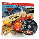 英文原版绘本 Cars 3 Read-Along Storybook with CD 迪士尼赛车汽车总动员3一起读故事