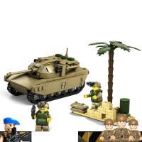 积木坦克模型兼容乐高拼装二战军事系列德国战车儿童力玩具