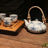 日式茶壶茶杯组合套装 和风日式陶瓷茶具 礼盒装