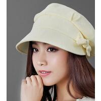时尚韩版潮棉麻太阳帽春夏天女款八角帽休闲户外防晒帽