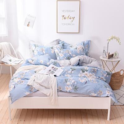 娇帛JIAOBO 全棉四件套床单被套枕套 全棉四件套
