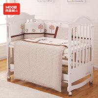 月亮船月亮船纯棉婴儿十件套宝宝床上用品儿童床围可拆洗秋冬款支持