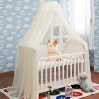 儿童BB开门蚊帐带支架宝宝帐罩婴儿床蚊帐落地支架宫廷夹式