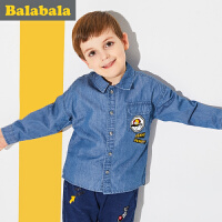 巴拉巴拉童装男童长袖衬衫小童宝宝春秋2018新款儿童宽松牛仔衬衣