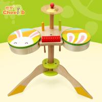 橙爱迷你架子鼓婴幼儿初学启蒙木质敲击打乐器儿童早教音乐玩具