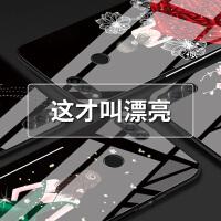 华为荣耀7x手机壳潮牌女款7A高配版个性创意玻璃畅玩7x韩国防摔套