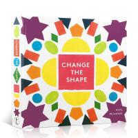 英文原版Change the Shape Novelty Book 形状概念认知 翻翻折叠立体操作玩具书 新奇趣玩 认
