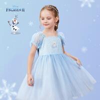 迪士尼女童短袖连衣裙儿童夏季裙子宝宝公主裙夏装2021新款洋气