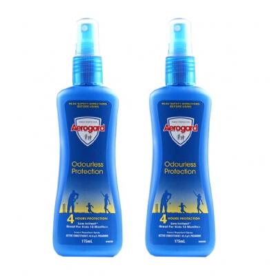 【2个装】香港直邮 Aerogard 澳大利亚 澳洲Aerogard无香型驱蚊喷雾 175ml/瓶*2  海外购